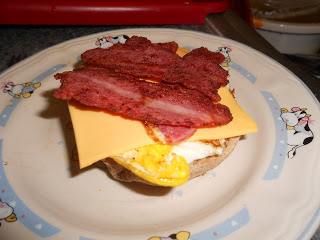 Healthy & hearty turkey bacon breakfast sandwich