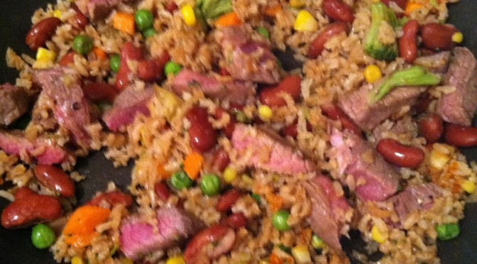 Easiest steak stir-fry