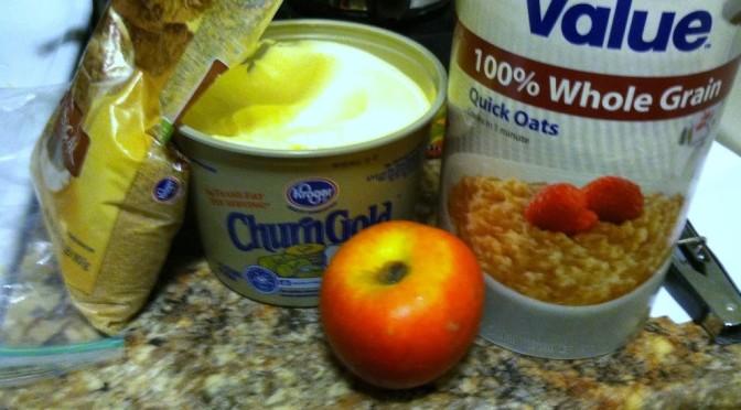 Less than 5: Microwave Apple Crisp