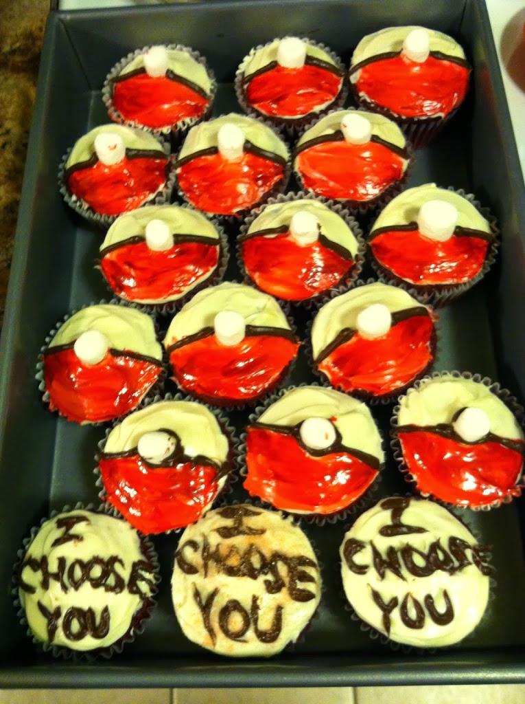 I CHOOSE YOU! Red Velvet PokeBall Cupcakes