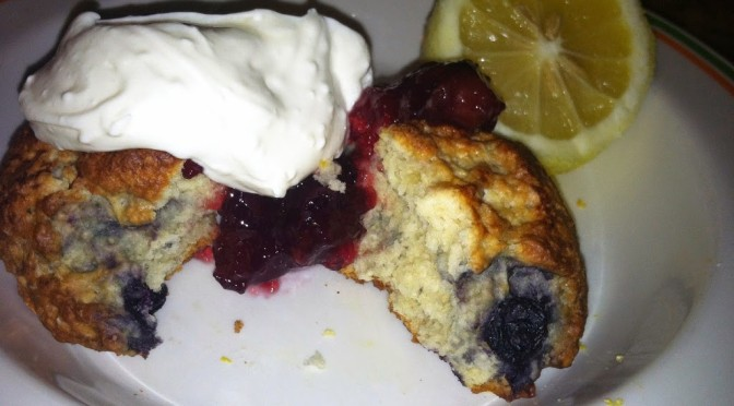 Blueberry-Lemon Scones with Devonshire Cream