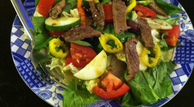 Steak Salad with Balsamic & Orange Dressing