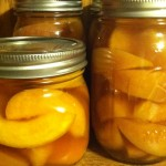 Home-canned peaches