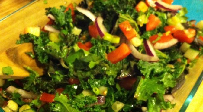Barley & Kale Veggie Salad