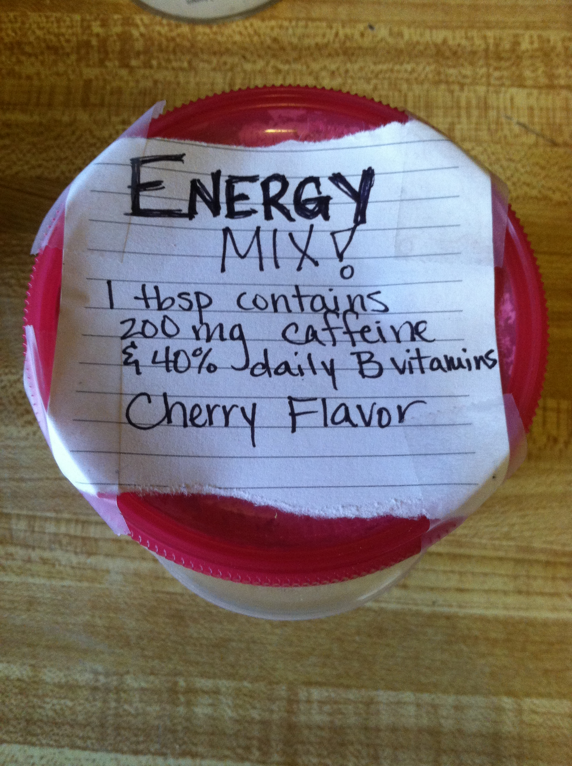 Homemade energy drink mix
