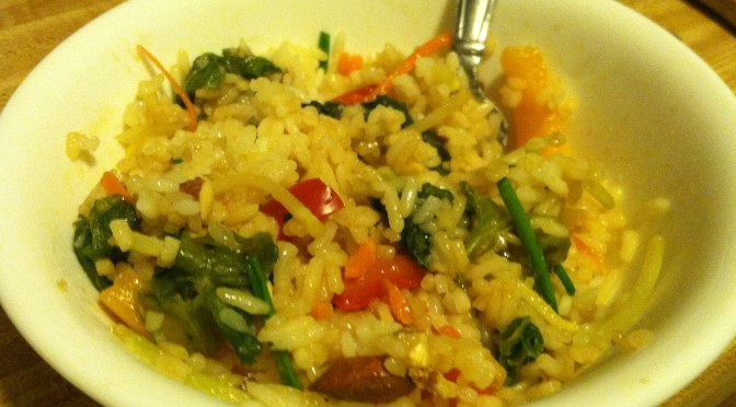 Easy Veggie Steamed Rice