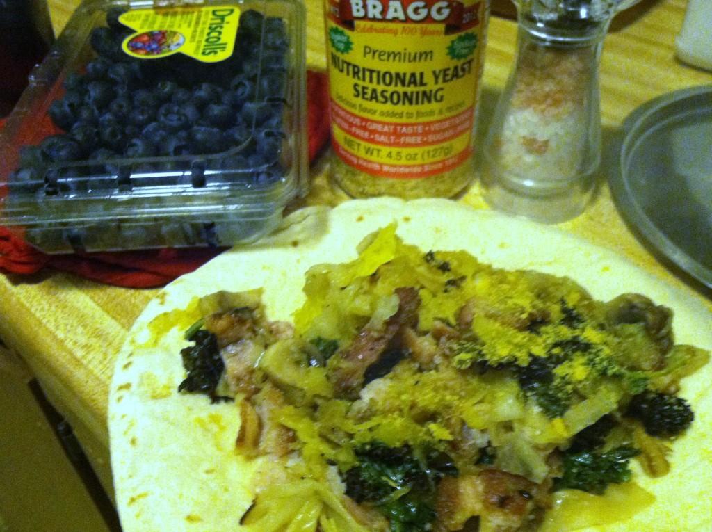 Spaghetti Squash & Kale Burrito