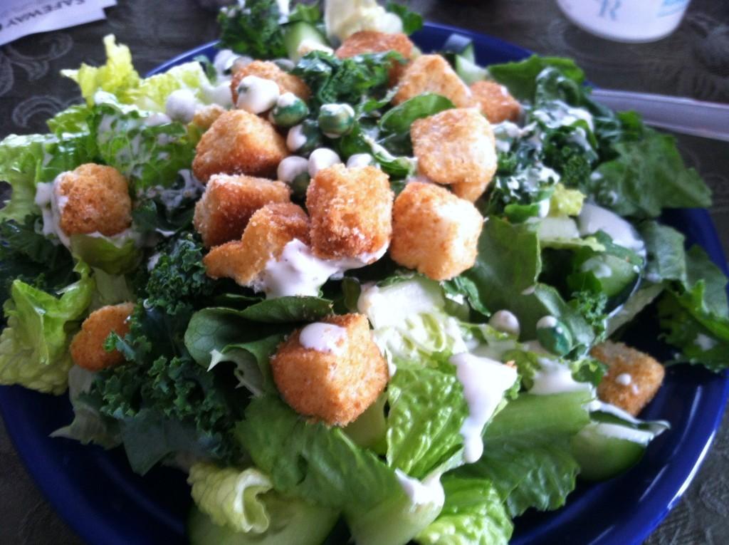 Kale & Wasabi Pea Caesar Salad