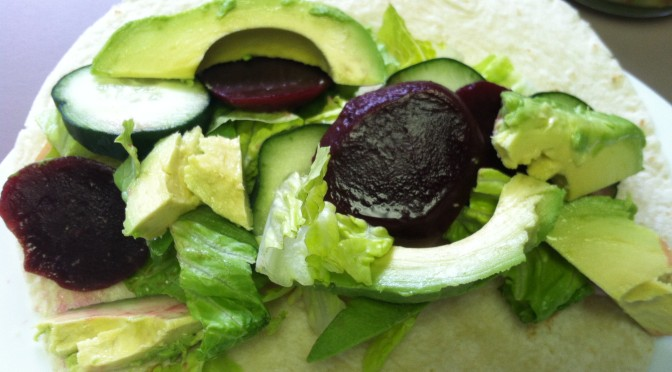 Avocado Beet Wrap