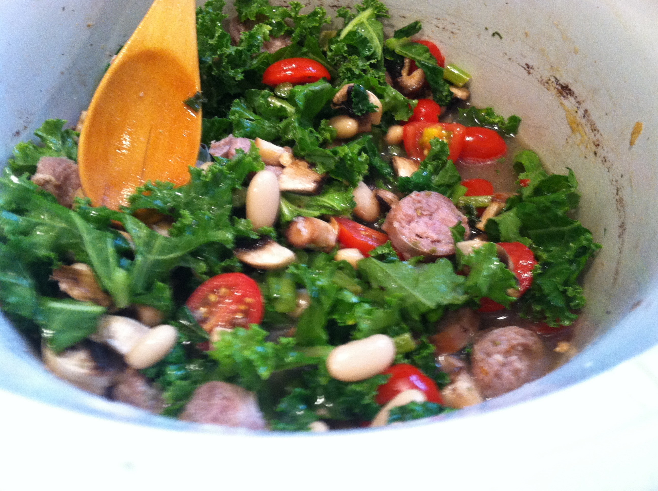 Slow Cooker Sausage & Kale Stew