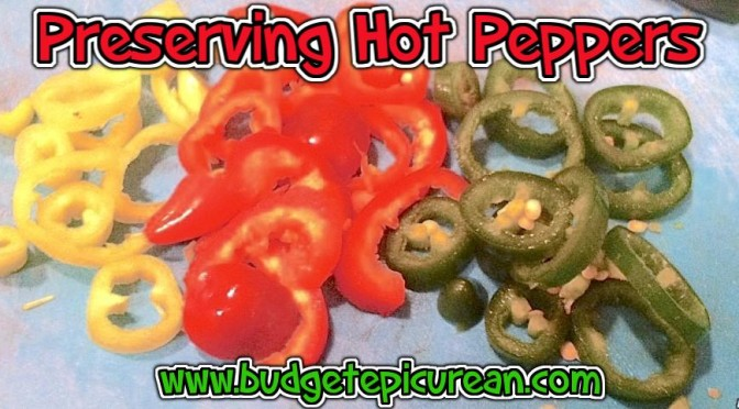 Preserving Hot Peppers