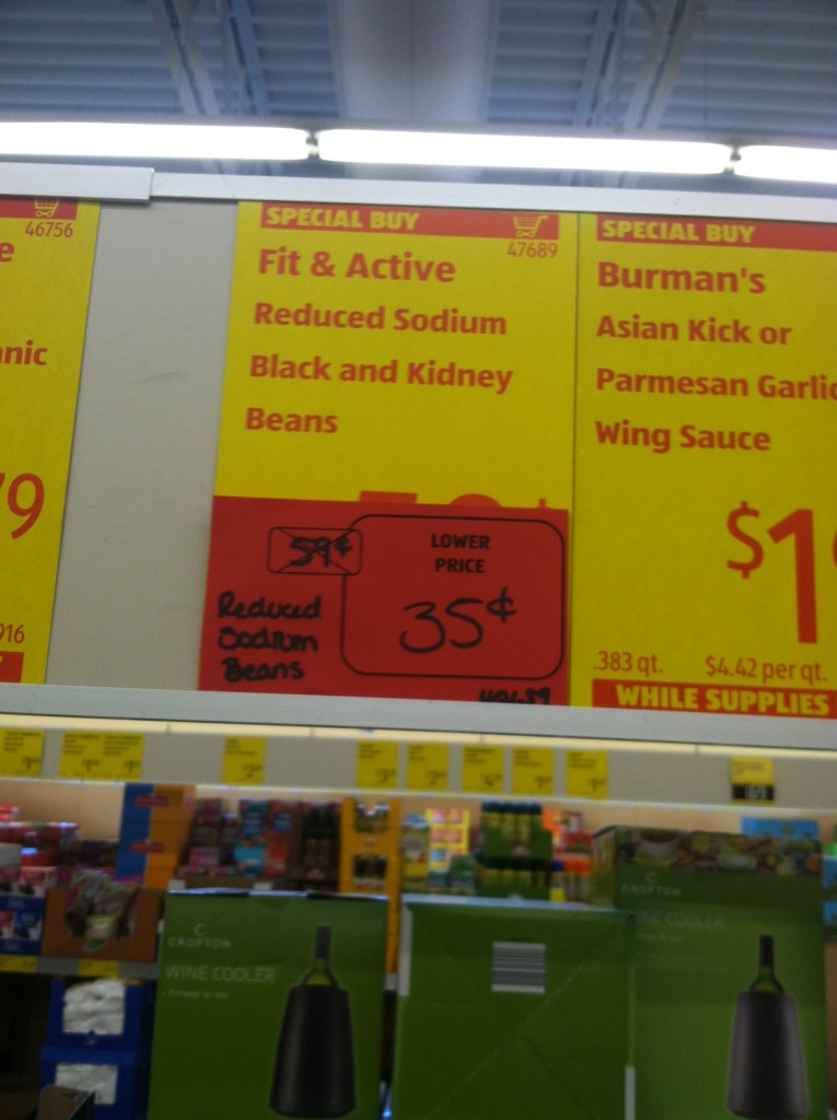 ALDI sale on black beans