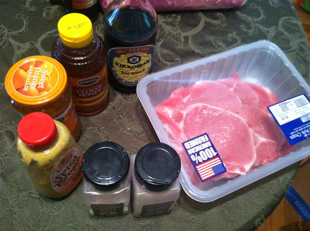 Crock Pot Orange-Ginger Glazed Pork Chops Ingredients