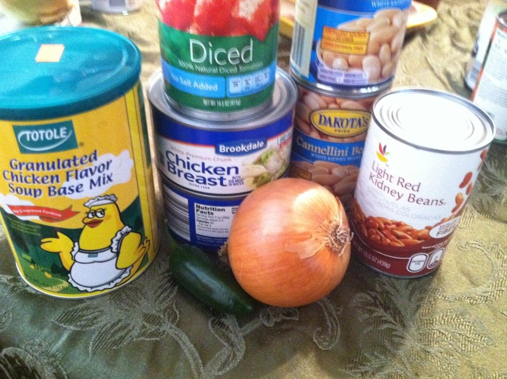 Crock Pot White Bean Chicken Chili Ingredients