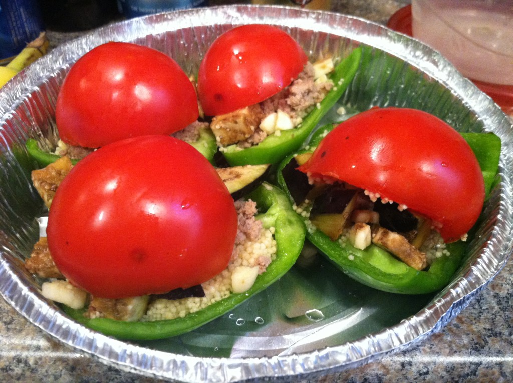 Stuffed Bell Peppers Assembled