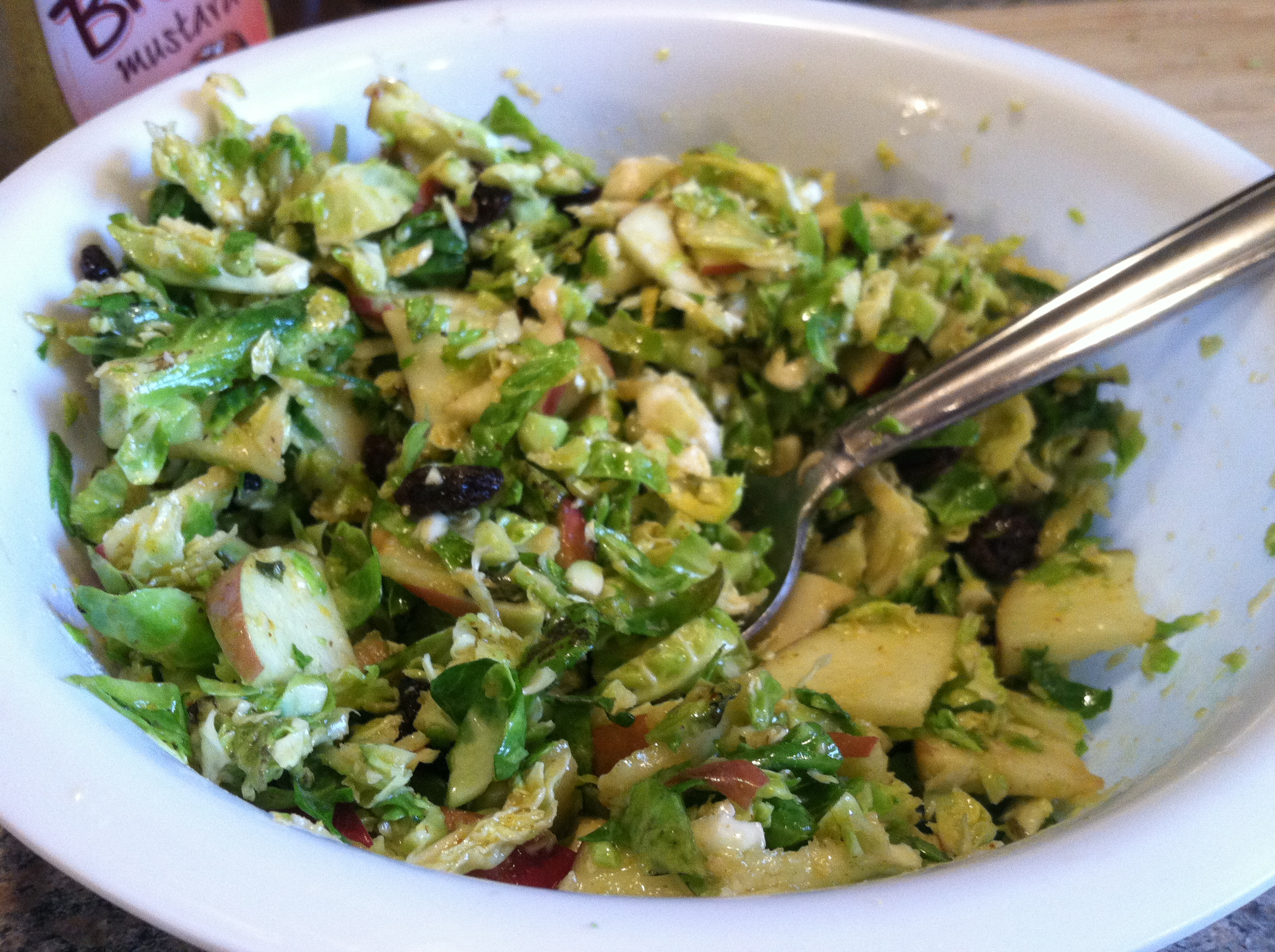 Sweet & Sour Brussels Sprouts Salad