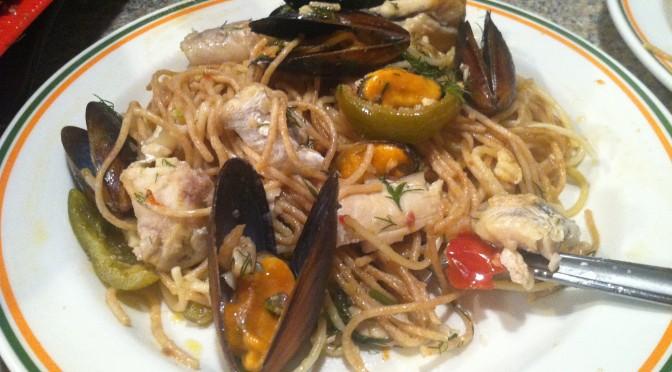 Seafood Linguini Bonanza
