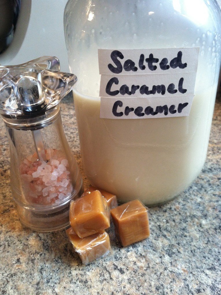 sea salt and caramel and creamer