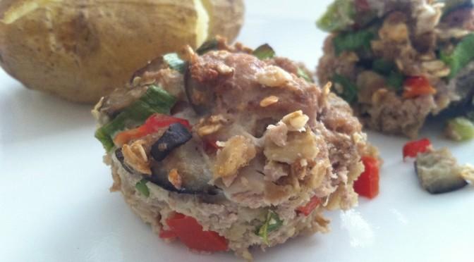 Mediterranean Meatloaf Muffins