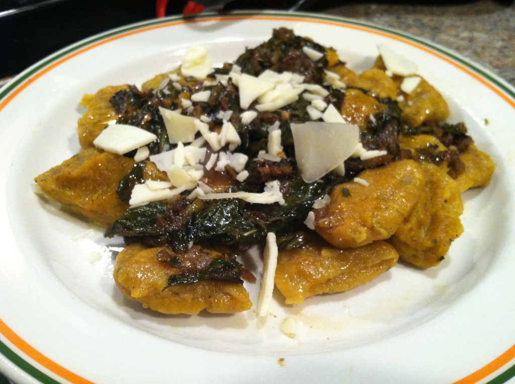 Butternut Squash Gnocchi with Sauce