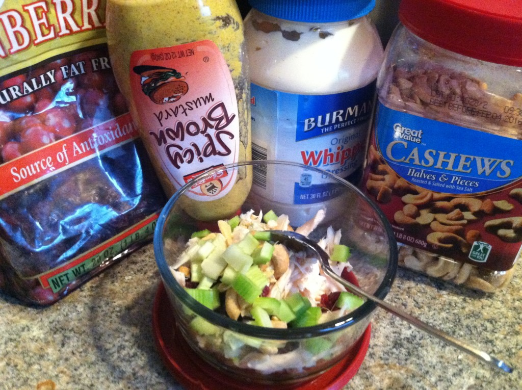 Ingredients for Cranberry Cashew chicken salad