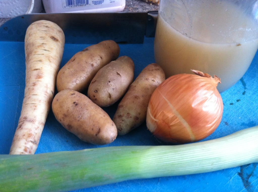 Parsnip Potato Leek Soup Ingredients