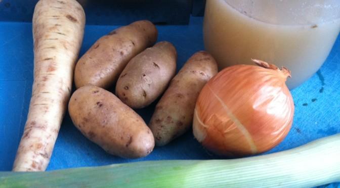 Parsnip, Potato, & Leek Spring Soup