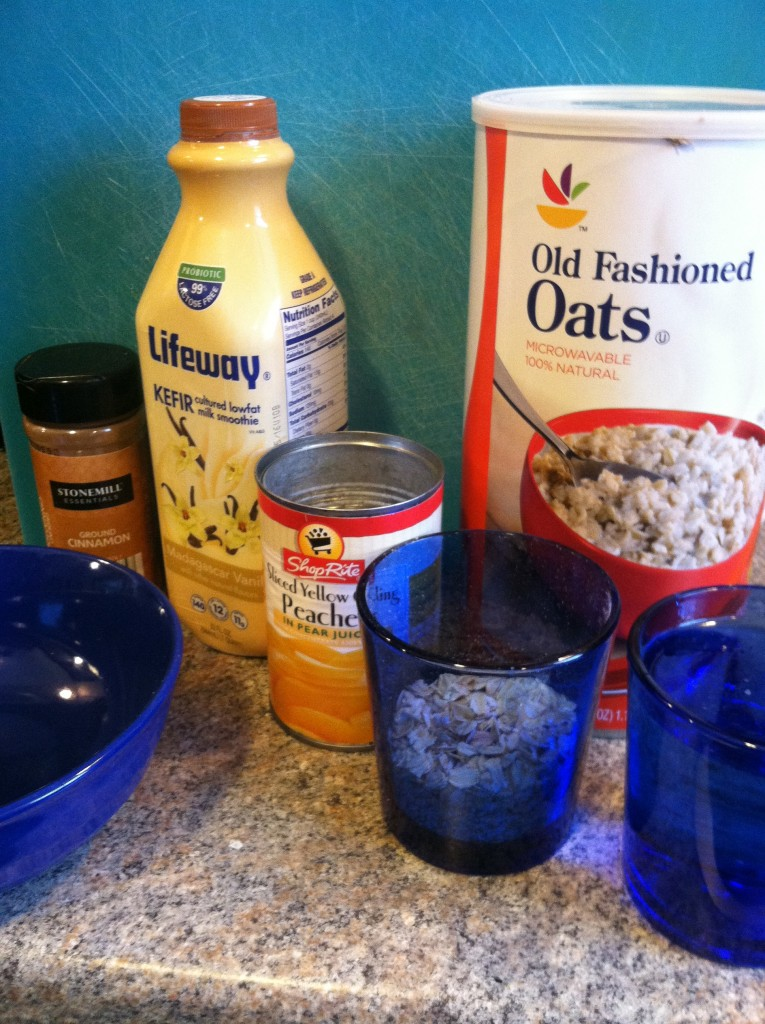 Peach Kefir Oatmeal Ingredients