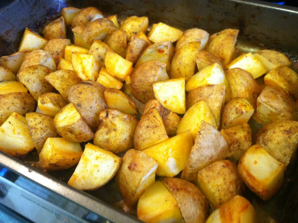 Pan of Baked Potato Wedges