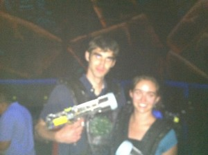 First date: Laser tag
