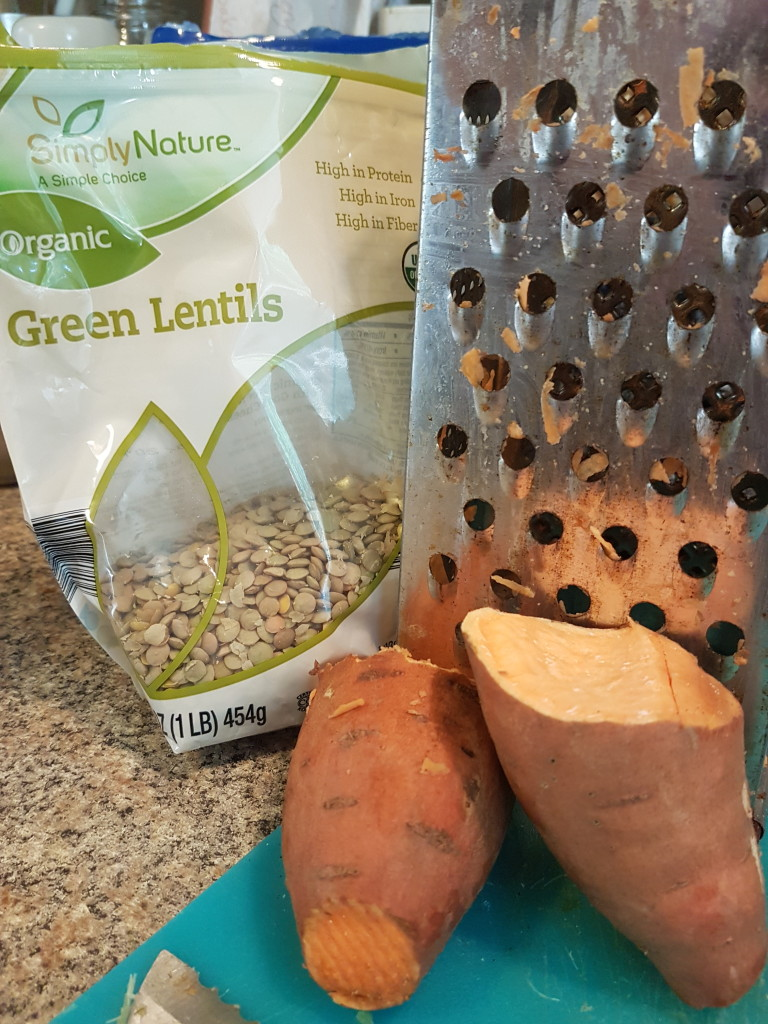 Lentils and sweet potatoes