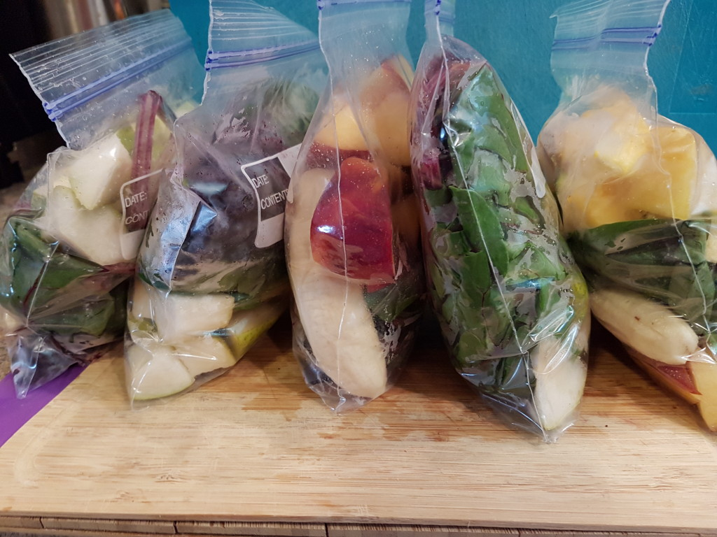 Smoothie freezer bags