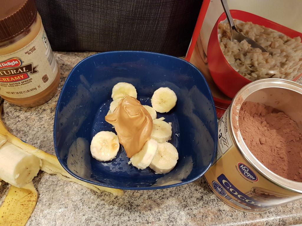 Cocoa PB Banana Oatmeal