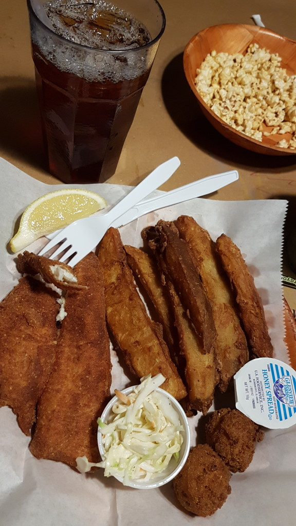 The fried sturgeon lunch basket