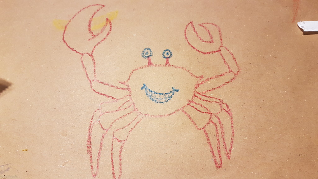Budget Epicurean crab drawing