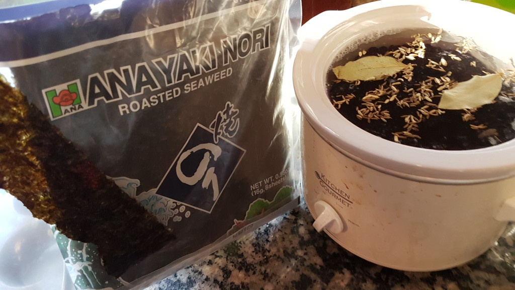 crock pot black beans with nori