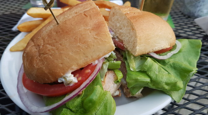The Straightaway Cafe Review - Slammin Salmon Sandwich