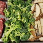One Pan Dinner: Steak, Broccoli & Potato Wedges
