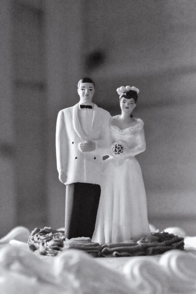 grandparents wedding cake topper