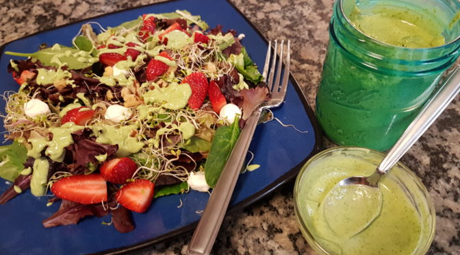 Vegan Green Goddess Salad Dressing