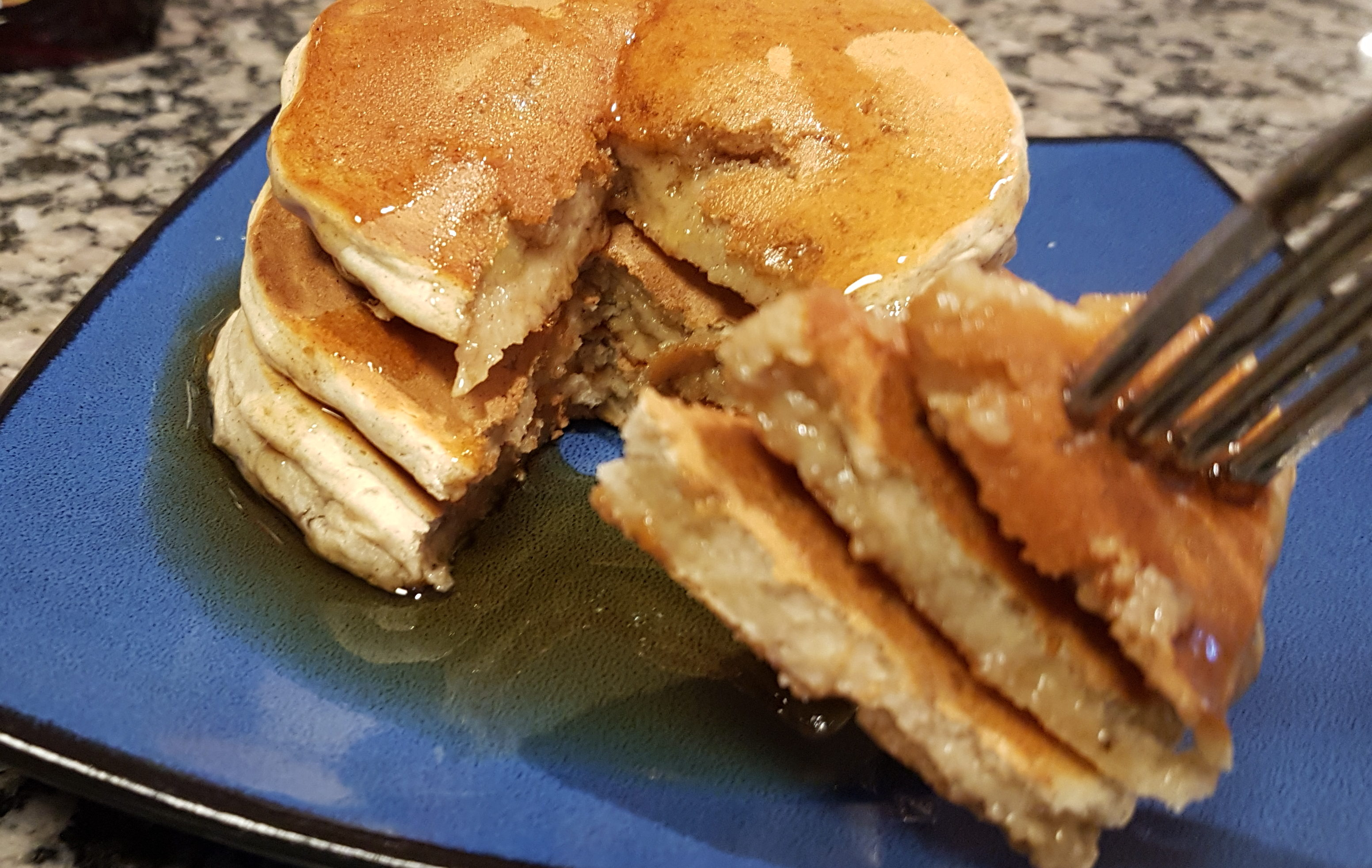 Banana and Cardamom Blender Pancakes