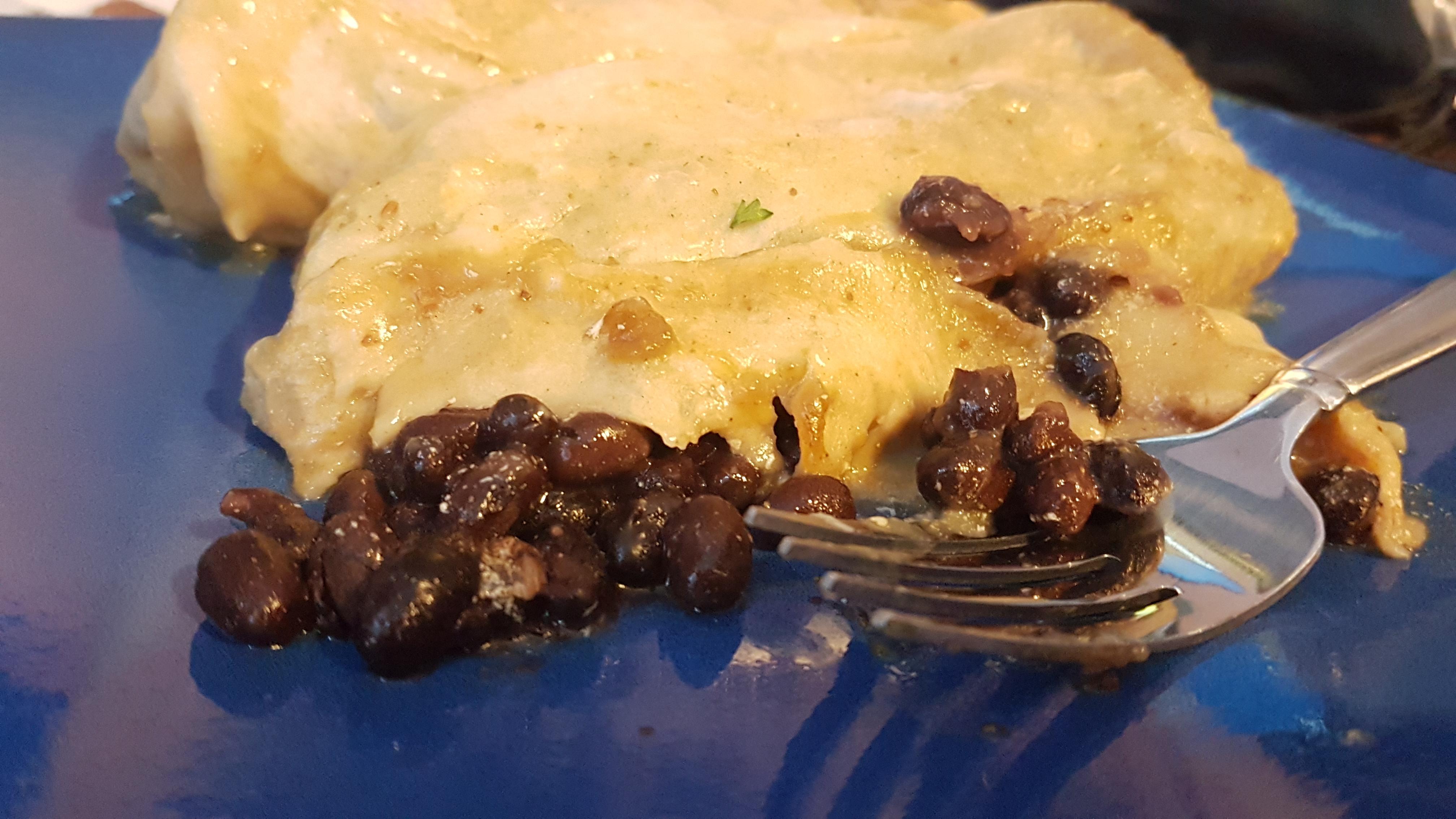 black bean mushroom enchilada