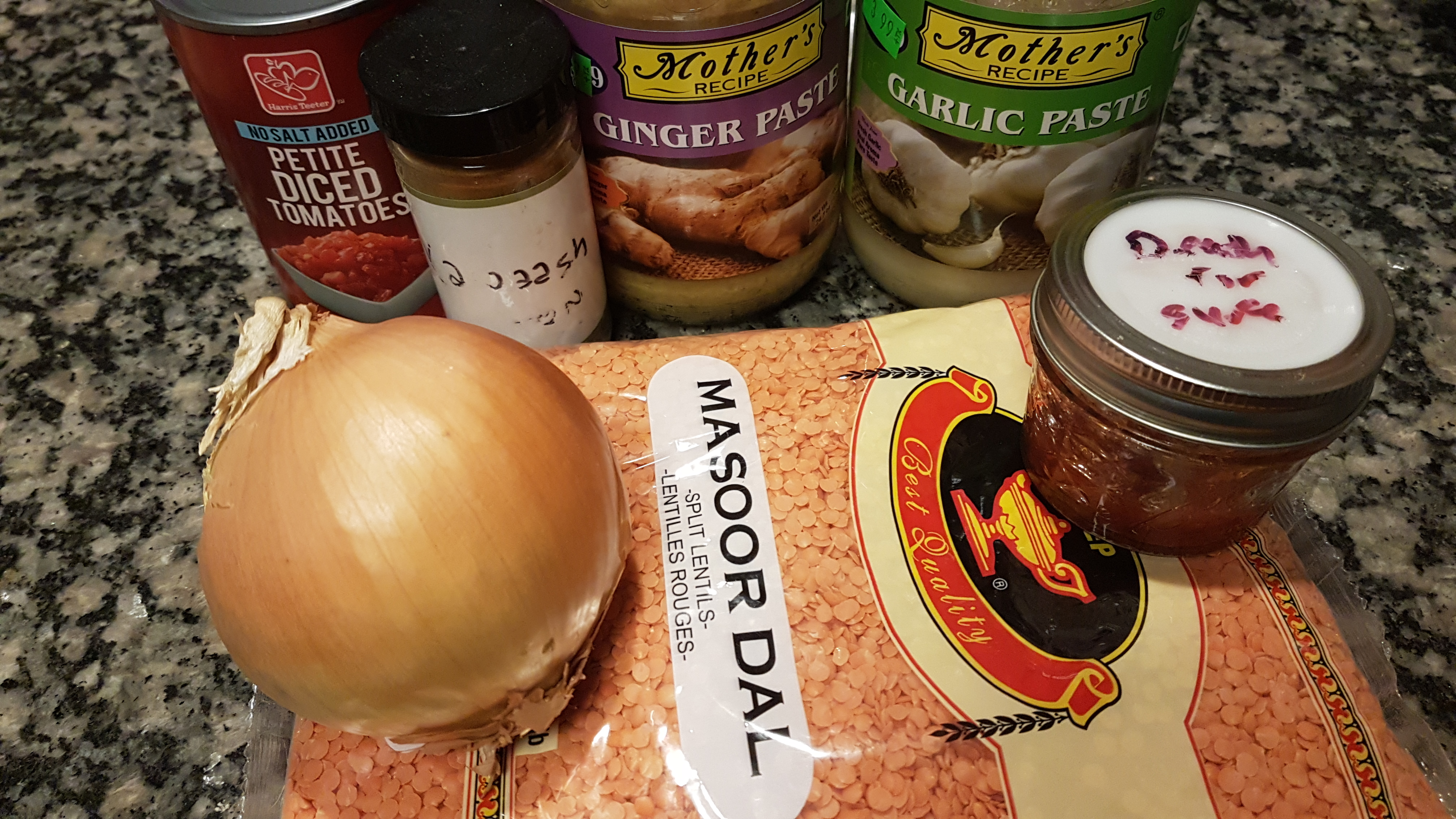 ingredients for masoor dal