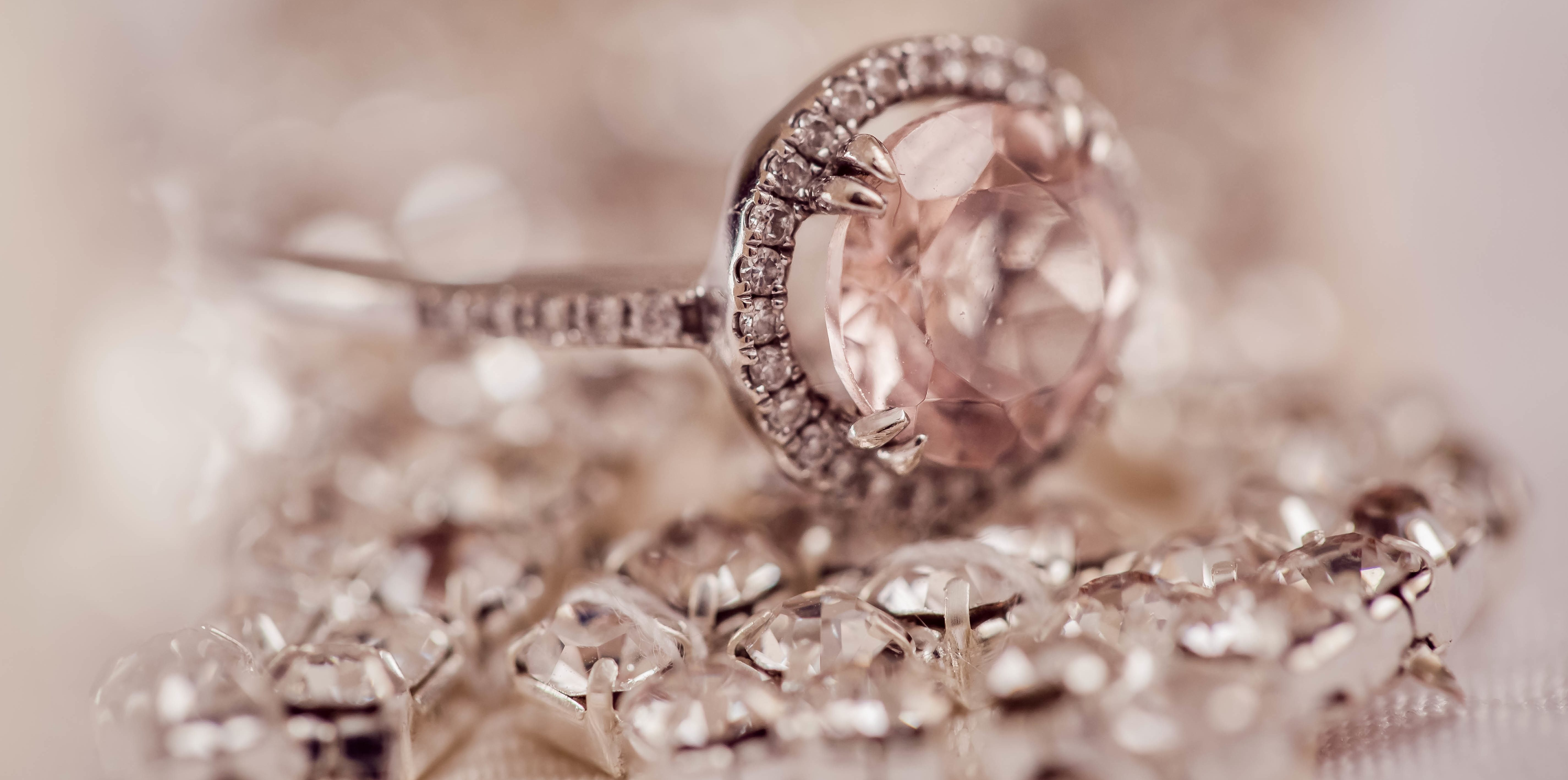 fancy ring surrounded by diamonds