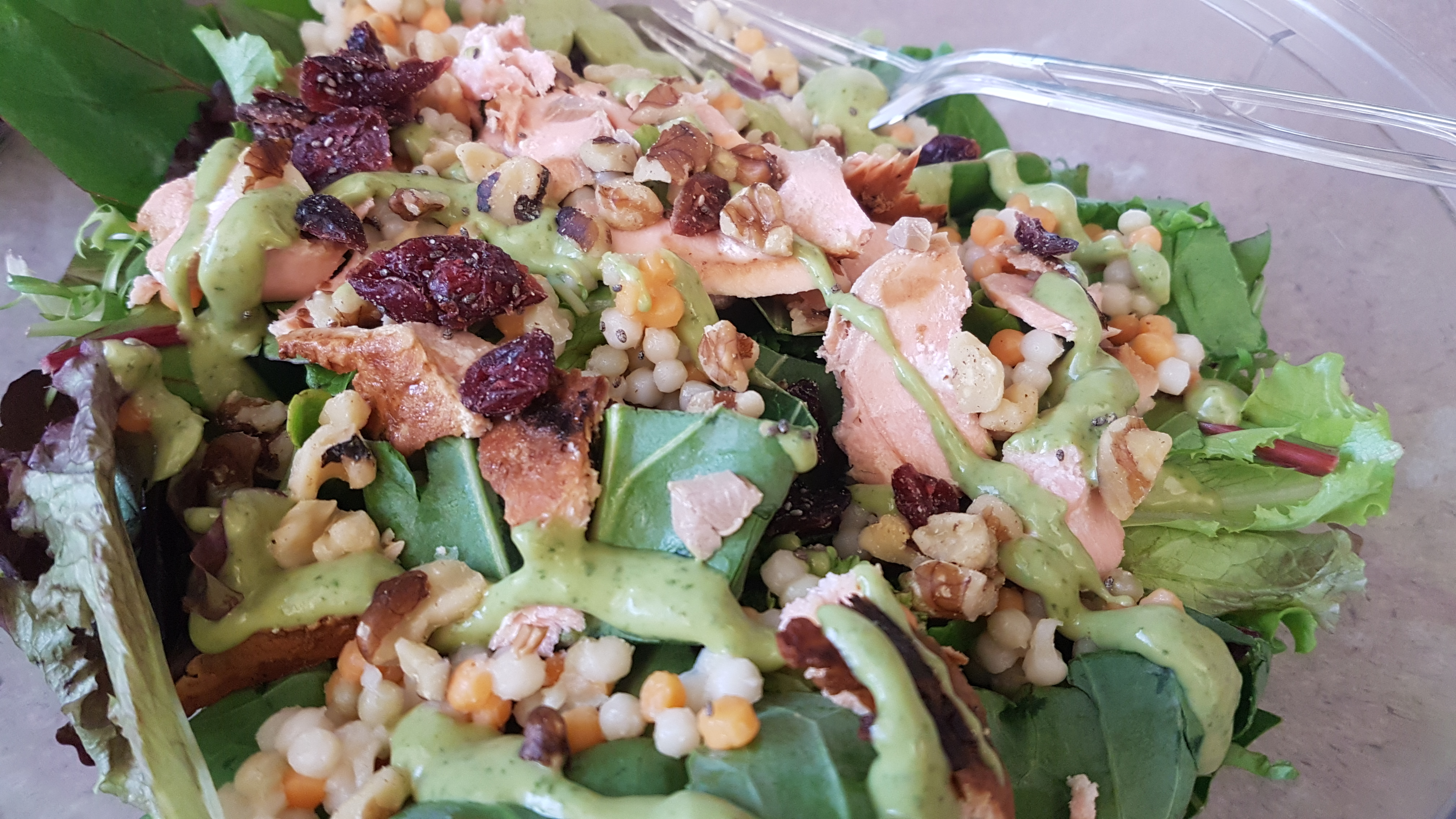 salmon and couscous salad monday