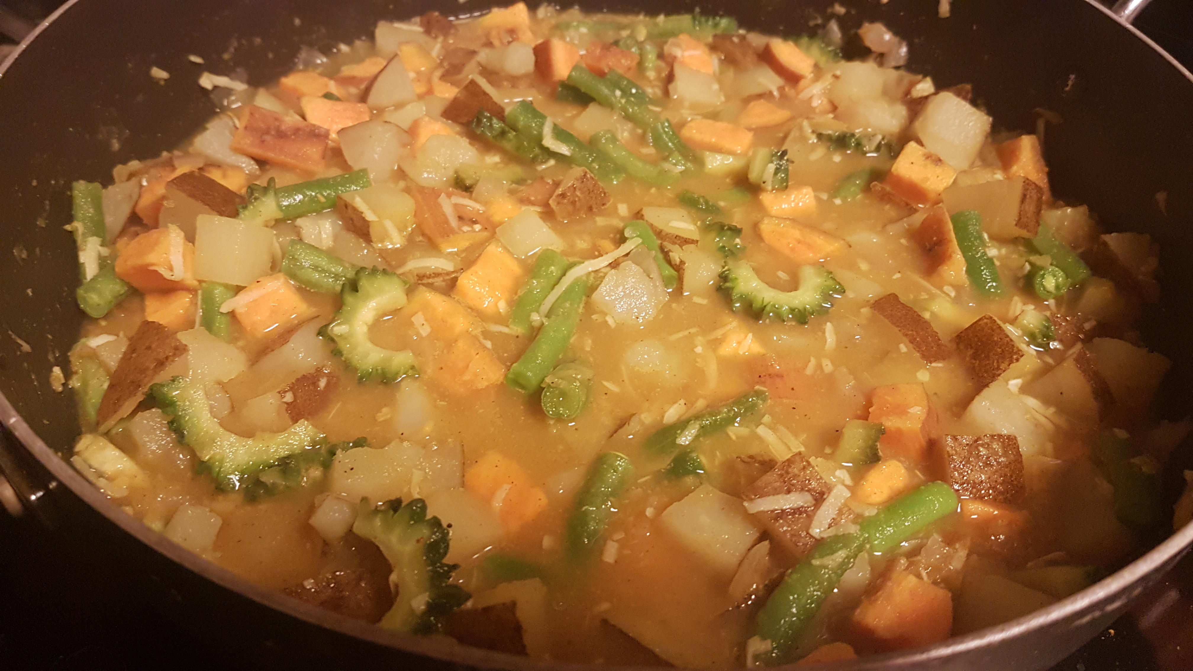 bitter melon and potato curry