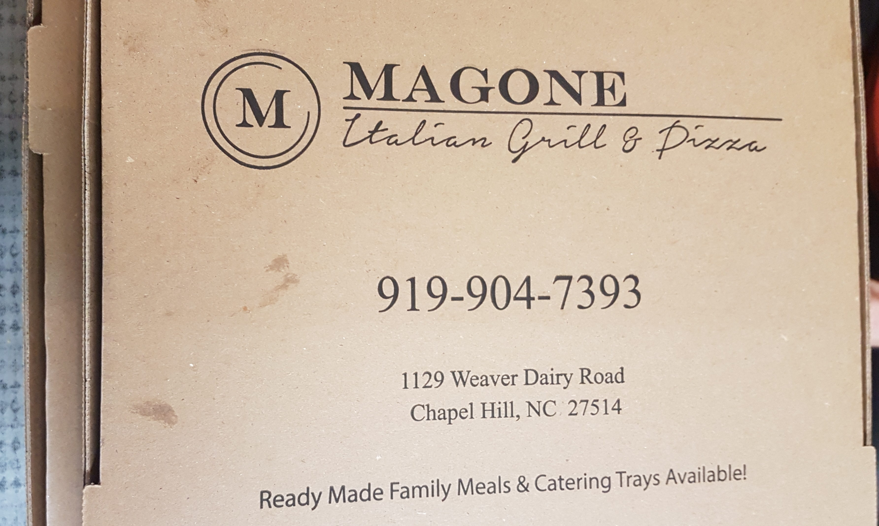 Magone Italian Grill to go boxes