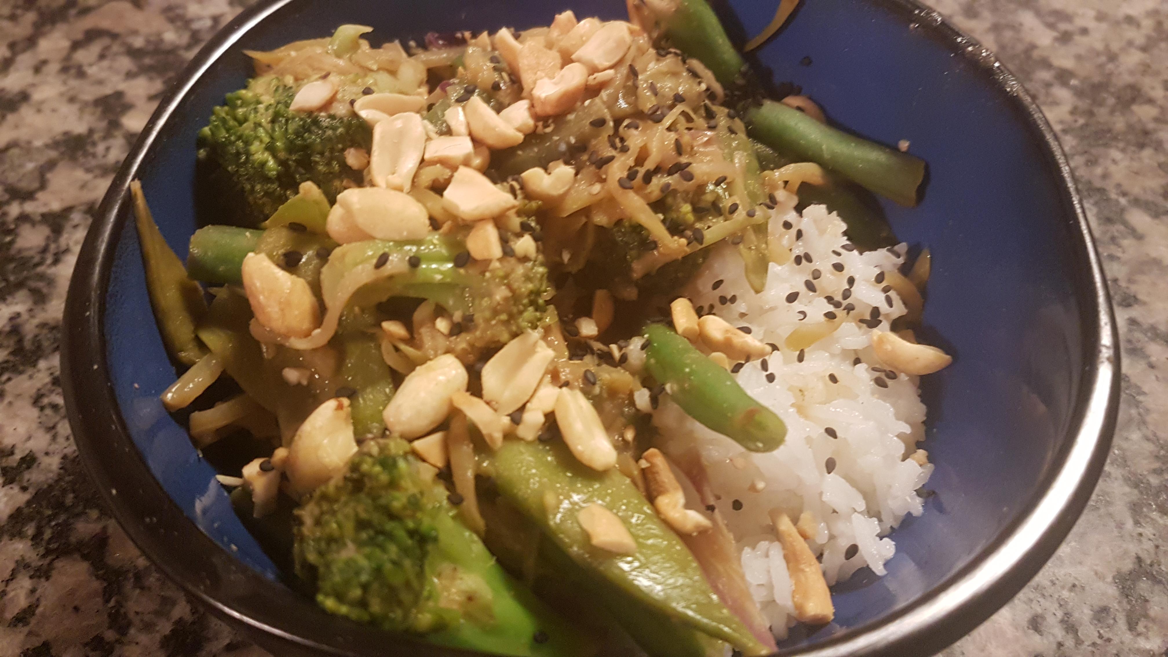 green veggie stir fry