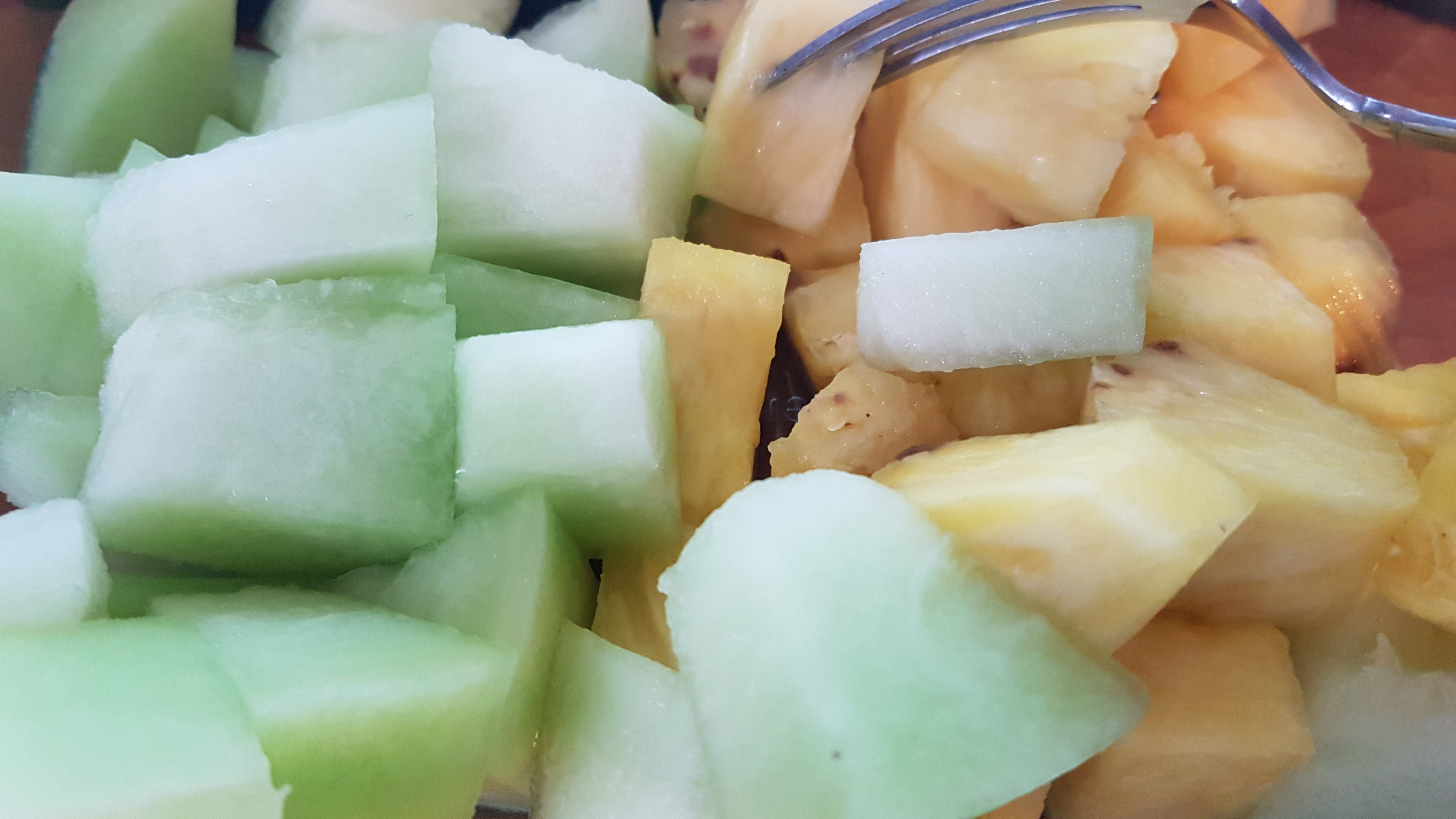 pineapple and honeydew