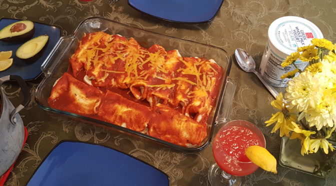 Easter dinner enchiladas